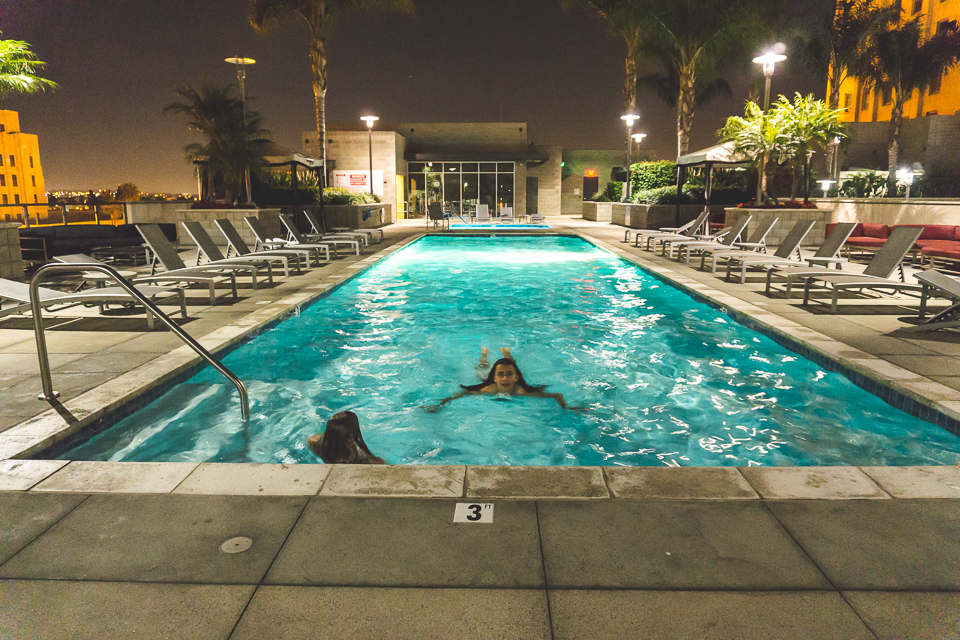 nighttime swimming