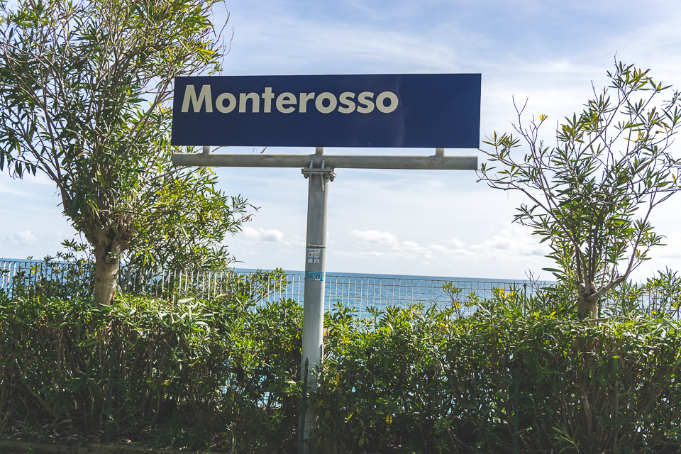 Monterosso train station, along the Cinque Terre