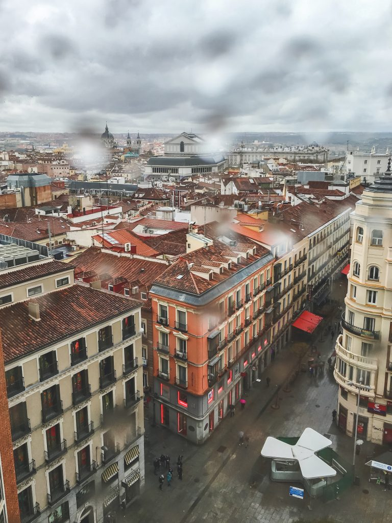 View from El Corte Ingles Madrid