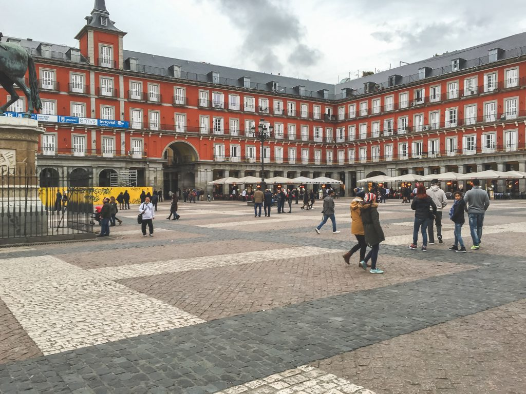 Rainy Day in Plaza Mayor